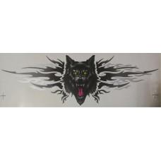 брызги Волк (ярость), серый+черный