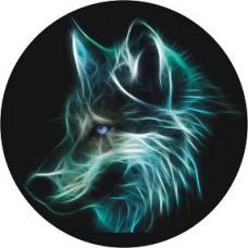 """наклейка """"волк в кругу"""""""