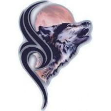 "наклейка ""волк на луну"""