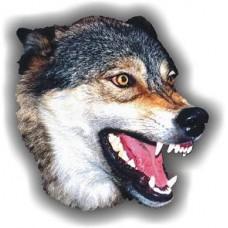 """""""волк цветной (голова)"""" (серый фон)"""