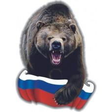 """наклейка """"медведь (Россия)"""" упаковка - 5 шт."""