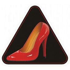 """наклейка """"Красная туфля"""", упаковка - 5 шт."""