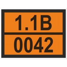 """наклейка """"детонаторы вторичные без первичного детонатора (1.1B-0042)"""""""