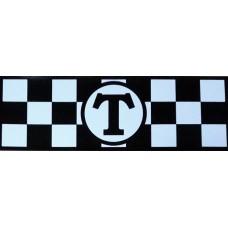 Такси (магнит) (белый+черный) комплект 2 полосы