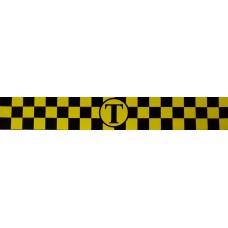 Такси (магнит) (желтый+черный) комплект 2 полосы