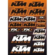 """наклейка """"KTM racing"""""""