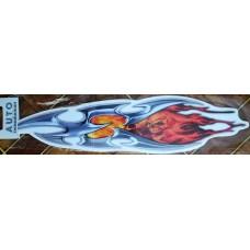 брызги череп-огонь №2 (оранжевый) комплект 2 шт