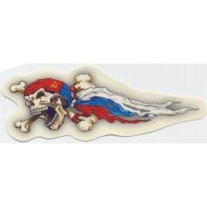 брызги (череп RUS флаг) комплект (5+5)