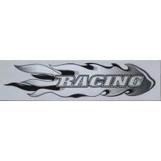 брызги пламя (Racing) (серебро) комплект 2 шт.