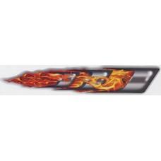 брызги череп-огонь №1 (оранжевый) комплект 2 шт