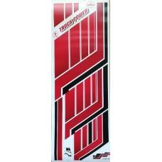 """наклейка """"Графика Truck Power"""" (красный), комплект на 2 стороны"""