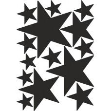наклейка звезды (черный) от 18 до 5,5