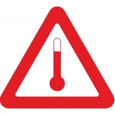 """наклейка """"Перевозка веществ при температуре более 20 градусов по Цельсию"""""""