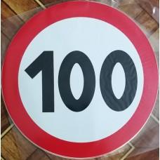 """наклейка """"Ограничение скорости 100"""", упаковка - 5 шт."""