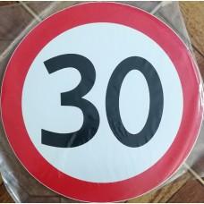 """наклейка """"Ограничение скорости 30"""", упаковка - 5 шт."""