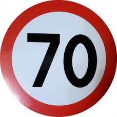 """наклейка """"Ограничение скорости 70"""", упаковка - 5 шт."""