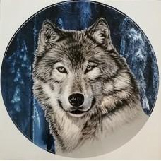 """наклейка """"Волк (заснеженный лес)"""""""