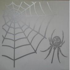 """паук"" (серебро) комплект 2 шт."