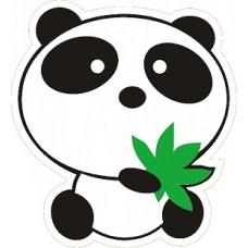 "наклейка ""Панда с листком"", упаковка - 10 шт."