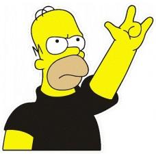 """наклейка """"Гомер"""", упаковка - 5 шт."""