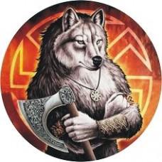 """наклейка """"коловрат (волк)"""" упаковка - 10 шт."""
