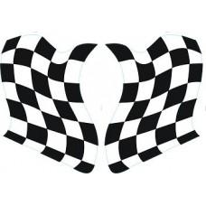 "наклейка ""флаг спорт"" комплект (2 шт.)"