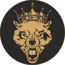 """наклейка """"Волк с короной"""", упаковка - 5 шт."""