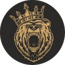 """наклейка """"Медведь с короной"""", упаковка - 10 шт."""