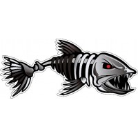 "наклейка ""Рыба (скелет)"""