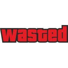 """наклейка """"Wasted"""", упаковка - 3 шт."""