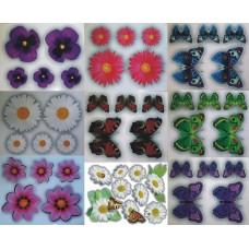 Наклейки Цветы, бабочки